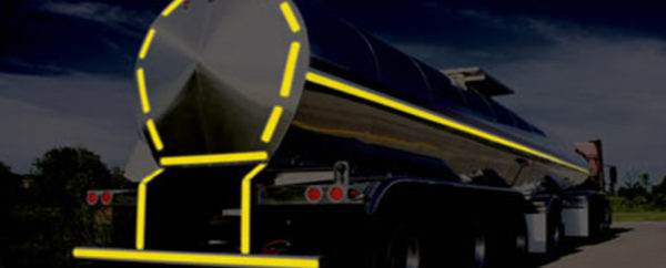 Image result for yellow reflective material on trucks